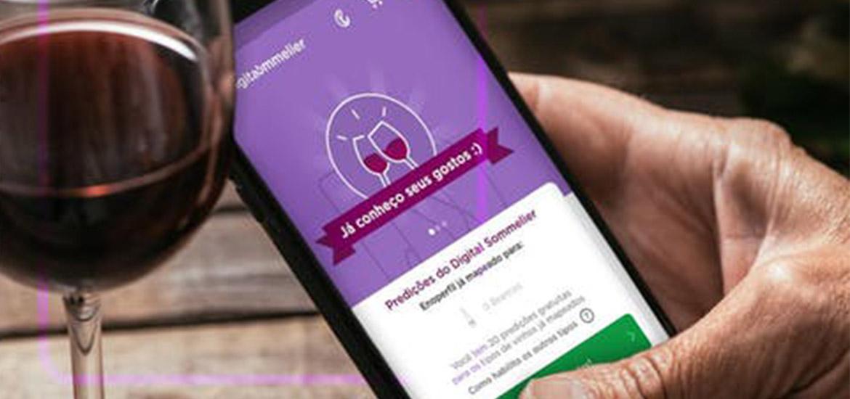 Digital Sommelier app desenvolvido pela Eniwine