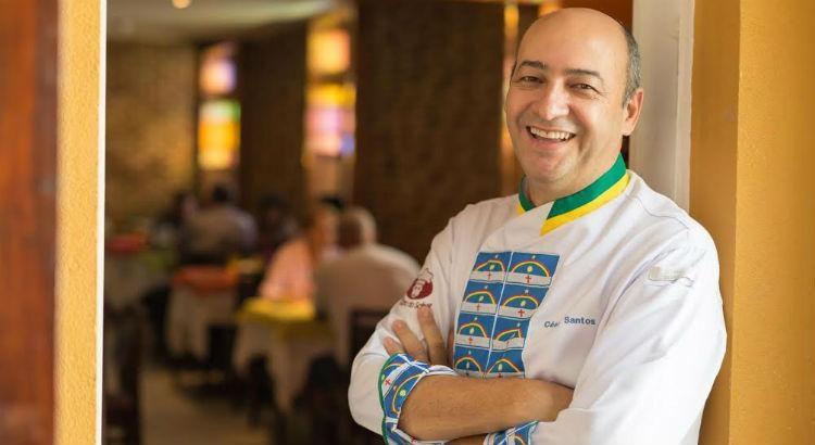 Chef César Santos no festival Gourmet Show