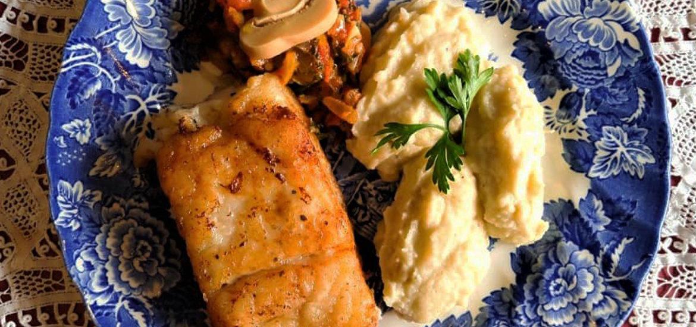 Receita de peixe pescada amarela com purê de couve-flor